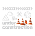 Under construction concept sketched drawing with vector image