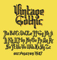vintage gothic typeface vector image vector image