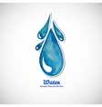 Watercolor blue moving water drop Logo vector image vector image