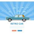 website design with classic retro sedan vector image vector image