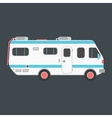 white travel camper van isolated on dark vector image