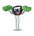 with money mascot ilustration featuring on car key vector image