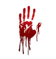 bloody hand graphic vector image