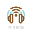 Wireless internet radio logo template with vector image
