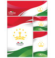 abstract tajikistan flag background vector image vector image
