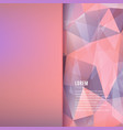 abstract triangular and blurred background vector image