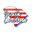 american flag in south carolina state map grunge vector image vector image