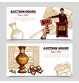 Auction House Hand Drawn Banners vector image vector image