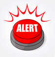 big red alert button light flashing