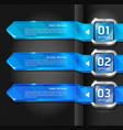 Blue color buttons website style options banner vector | Price: 1 Credit (USD $1)