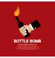Bottle Bomb vector image vector image