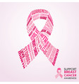 breast cancer awareness month pink ribbon concept vector image vector image