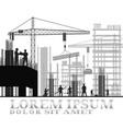 building under construction site vector image vector image