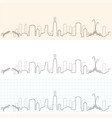 chicago hand drawn skyline vector image