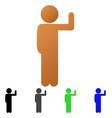 child vote flat gradient icon vector image vector image