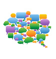 Colorful speech bubbles group vector image vector image