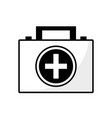 contour briefcase and first aid kit urgency vector image vector image