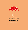 Creative logo with a double meaning umbrella in t vector image vector image