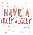 cute lettering new year and xmas hand drawn vector image vector image