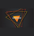 design black abstract background with orange vector image