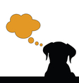 dog think silhouette vector image vector image
