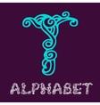 Doodle hand drawn sketch alphabet Letter T vector image