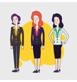 Elegant business woman characters Linear vector image
