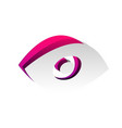 eye sign detachable paper vector image