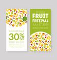 fruit festival banner template summer sale card vector image