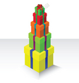 gift box stack vector image vector image