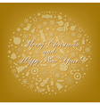 Golden Stylized Sphere From Icons vector image
