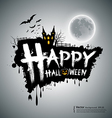 Happy Halloween message design vector image