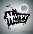happy halloween message design vector image