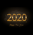 Happy new year 2020 background with golden