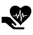health protection icon simple black style vector image