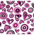 hearts and circles vector image