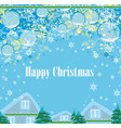 holidays in the village card vector image