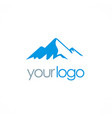 Mountain nature logo vector image