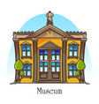 national museum building with statue on top vector image vector image