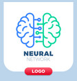 neural networks human brain logo icon chip vector image