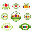 organic farming products labels emblems vector image vector image