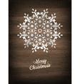 Paper christmas snowflake EPS 10 vector image