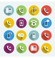 Phone handset flat icons vector image vector image