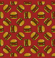 seamless pattern with hamburger can be used for vector image