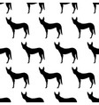 seamless pattern with silhouettes of dingo dog vector image