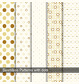 seamless retro patterns with circles and dots vector image