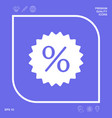 sign percent symbol discount icon graphic vector image