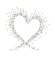 silver heart vector image vector image