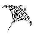stingray tattoo shape vector image