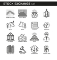 Stock Exchange Linear Icons vector image